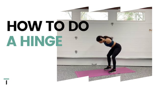 How to do a hinge