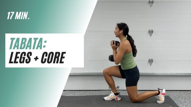17 min. Tabata Legs + CORE