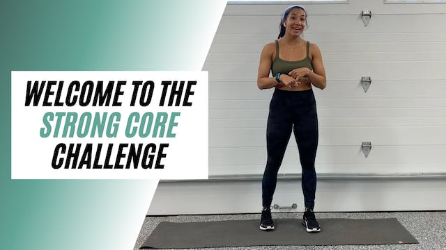welcome to STRONG CORE challenge
