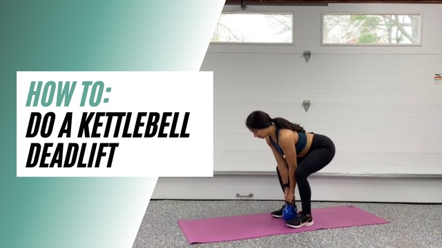 How to do a Kettlebell Deadlift