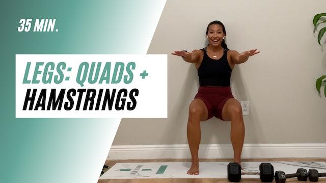 36 min. quads + hamstrings