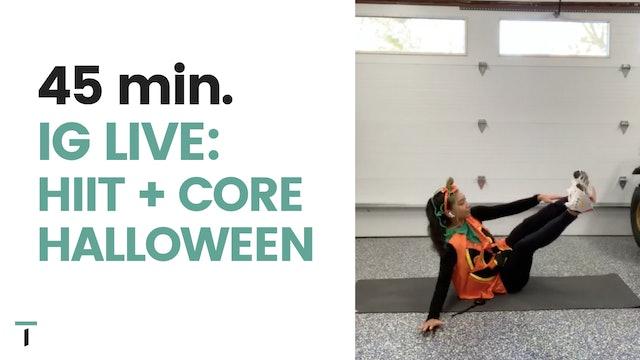 IG live - 45 min. HIIT & CORE - Halloween edition