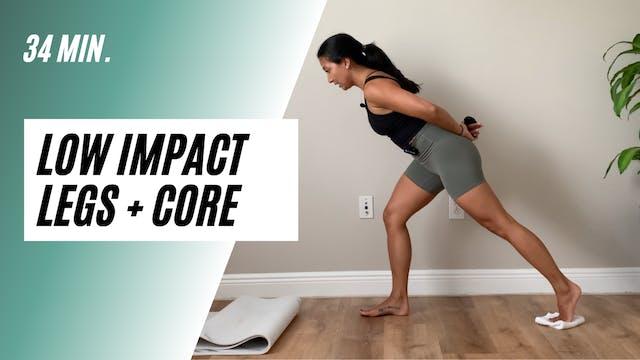 34 min. low impact legs + core