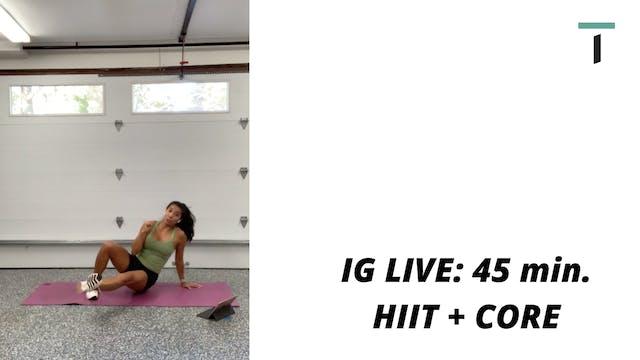 45 min. HIIT + CORE