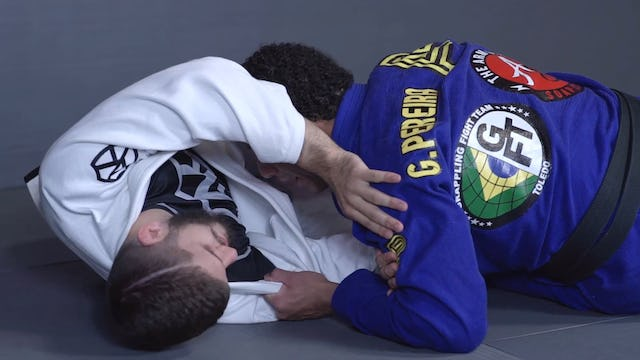Back Step to Pass the Knee Shield  [BJJ-03-03-17]