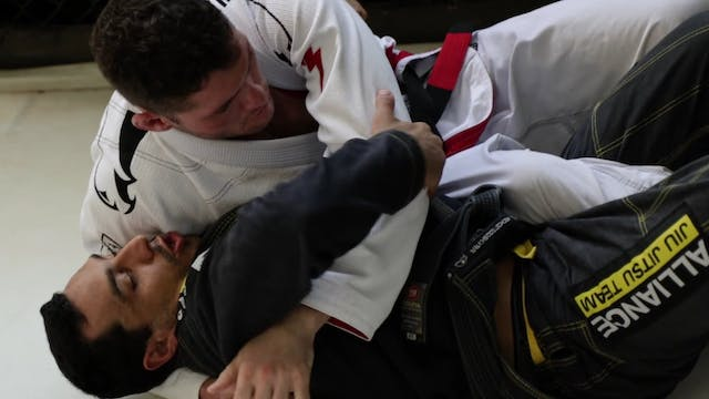 Reverse Half Guard to Side Control [BJJ-04-03-08]