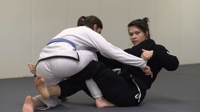 Over Head Sweep from X Hook [BJJ-04-02-11]