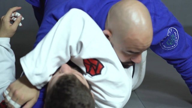 DLR X Hook Holding the Belt to Sweep [BJJ-04-02-20]