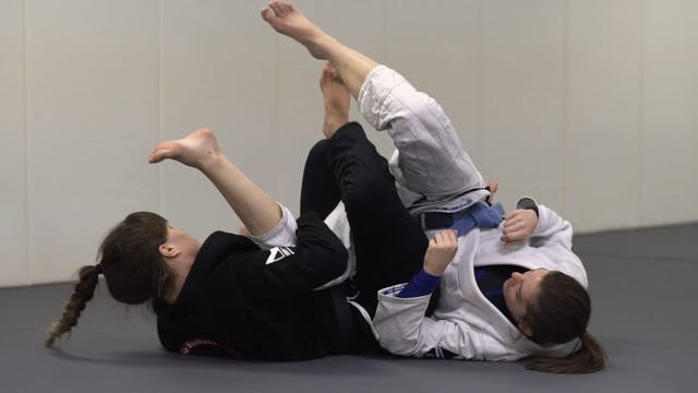 Step over to Knee Bar [BJJ-03-03-13]