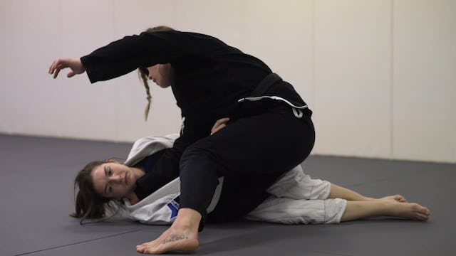 Collar Choke from Top Half Guard [BJJ-03-03-10]
