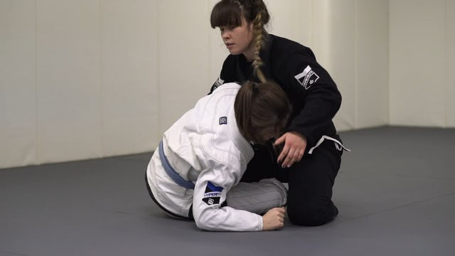 Guillotine from Top Half Guard [BJJ-03-03-11]