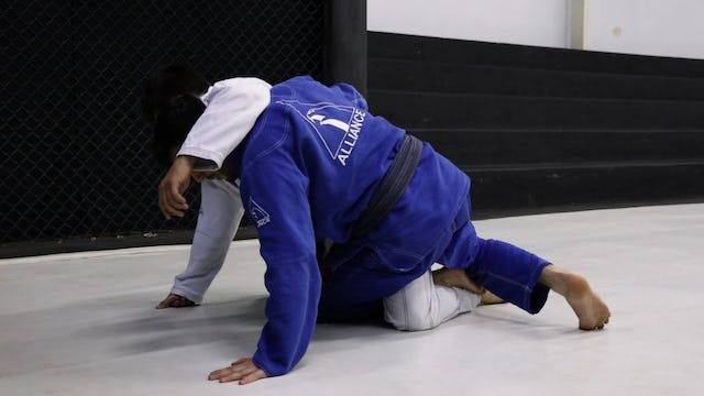 Knee Shield to the Back  [BJJ-04-03-30]