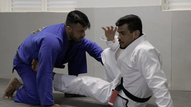 How to Pull Guard on Knees  - When opponent tries pressure pass