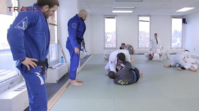 Max Gimenis at Ribeiro Jiu Jitsu - Knee Shield Pass Series