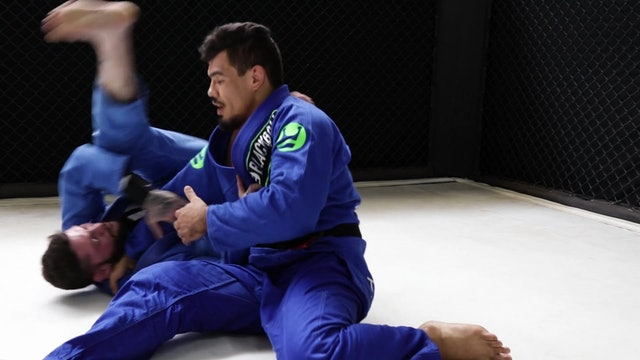 Knee Cut with Cross Collar Grip to Pass [BJJ-03-09-03]