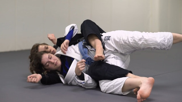 Back Step to Roll to the Back [BJJ-03-03-12]