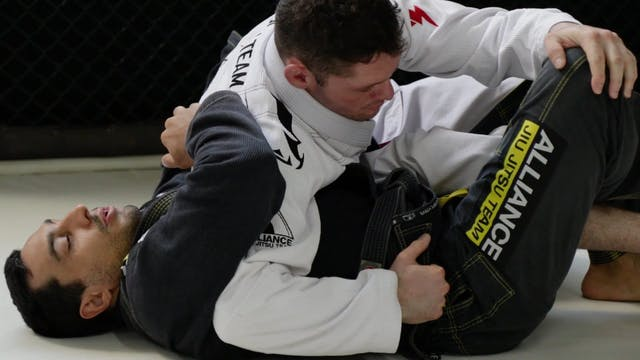 Reverse Half Guard to Mount [BJJ-04-03-12]
