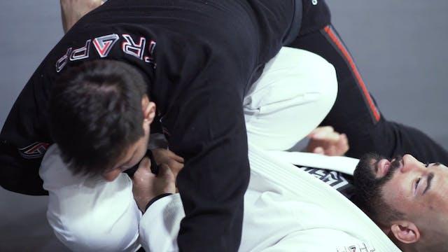 Raspagens quando o oponente tenta passar abraçando a cabeça