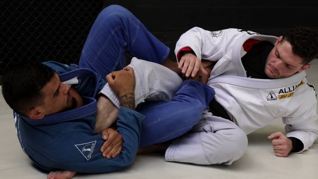 Rear Naked Choke Grips to Finish the Footlock [BJJ-05-14-02]
