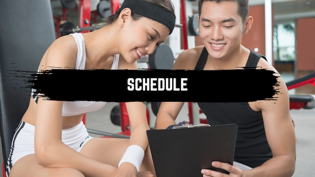 Build Your Own Schedule