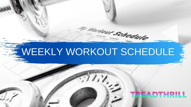 Workout Schedule