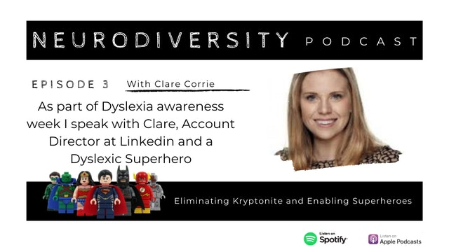 Dyslexia Awareness Week with Clare Corrie