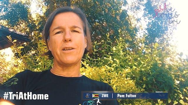 Pam Fulton from Triathlon Zimbabwe