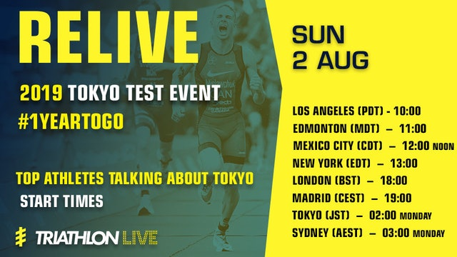 RELIVE Tokyo Test Event with top triathletes