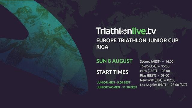 2021 Europe Triathlon Junior Cup Riga