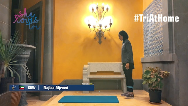 Najlaa Aljrewi (Kuwait) - mobility and stretching