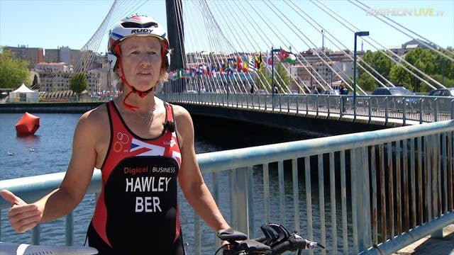 World Triathlete Julia Hawley from Be...