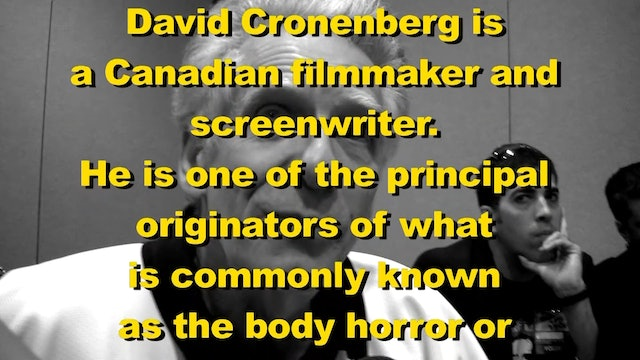 Troma Talks To Canadian Master Of Horror David Cronenberg!