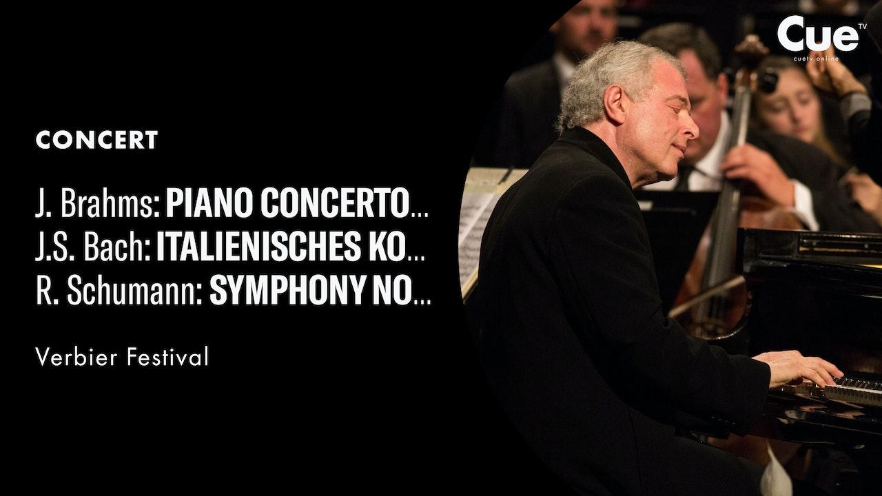 Brahms: Piano Concerto No. 1; J. S. Bach: Italian Concerto - Allegro; Schumann