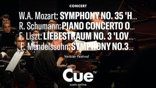 W,A Mozart: Symphony No. 35 'Haffner'; Schumann: Piano Concerto; Liszt