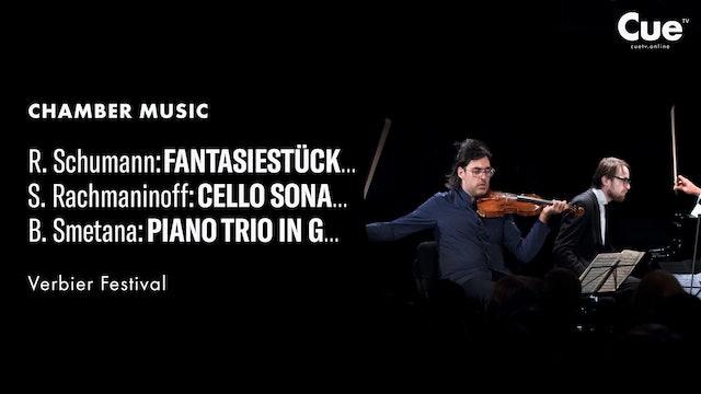 Schumann: Fantasiestücke; Rachmaninov: Cello Sonata; Smetana: Piano Trio