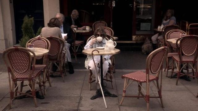 Still: Peggy Outside Cafe