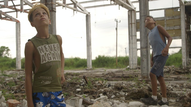 Still - Leonel and Antun in derelict factory