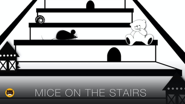 Video for Cats - Mice on the Stairs
