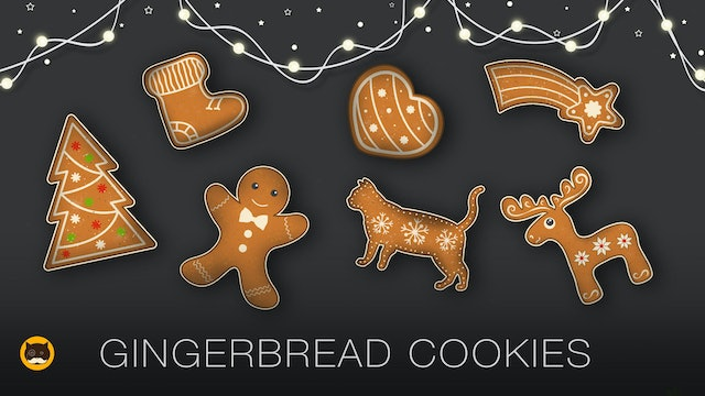 CAT GAMES - Gingerbread Cookies. Videos for Cats