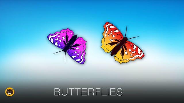 Cat Games - Catching Butterflies