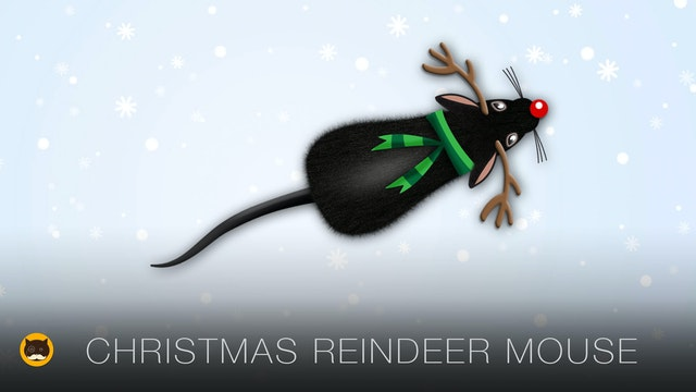 Cat TV Mice - Christmas Reindeer Mouse