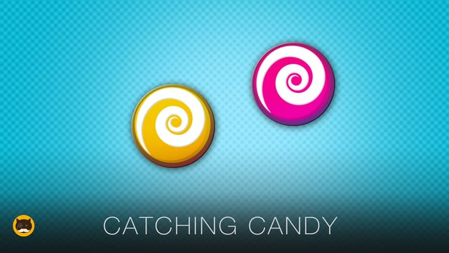 Cat Games on Screen - Catching Candy
