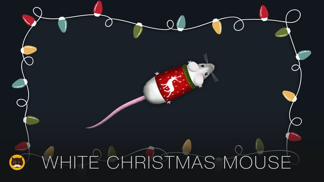 CAT GAMES - White Christmas Mouse. MO...