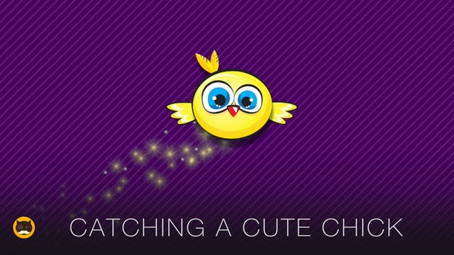 CAT GAMES - Catching a Cute Chick. Vi...