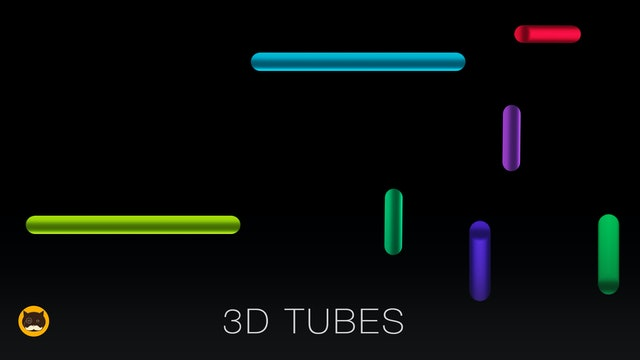 CAT GAMES - 3D TUBES. Video for Cats to Watch