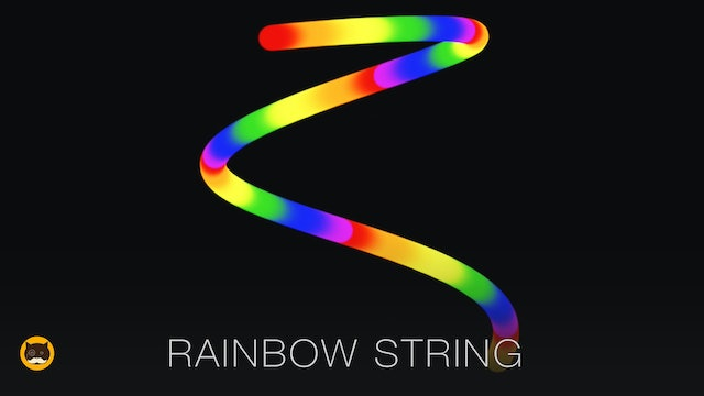 CAT GAMES - Rainbow String. Videos for Cats