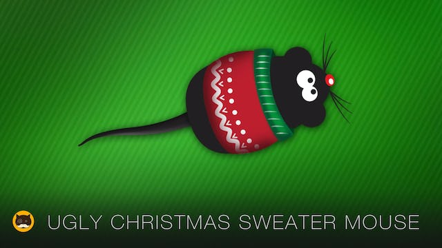 Cat Games - Ugly Christmas Sweater Mouse