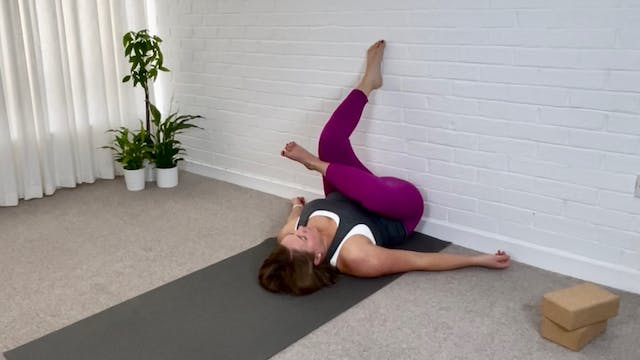 Yin Yoga at the Wall