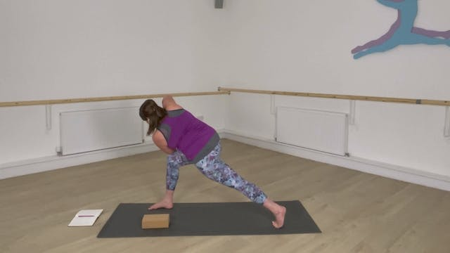 Sweat & Flow into Crescent Lunge