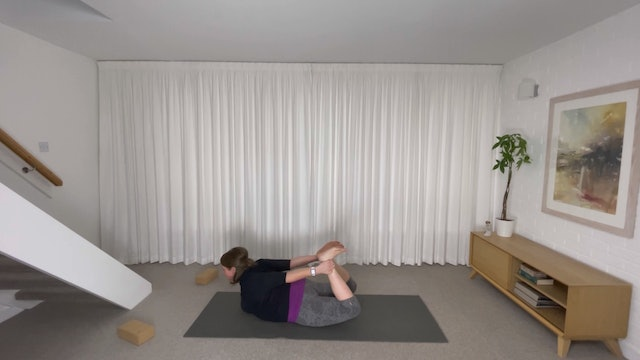 Sweat & Flow into Bow Pose